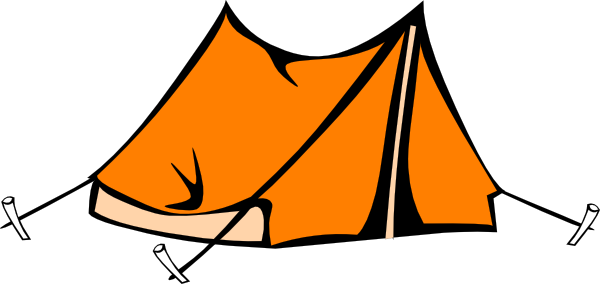 Camping Tent Clipart Black And White Orange Hi